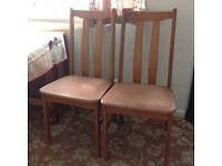 Drop leaf Dining table and 3 chairs