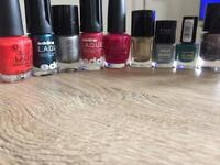 Selection of nail polish
