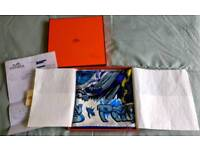 Brand new Authentic Hermes H Comme Scarf- with tags and Receipt