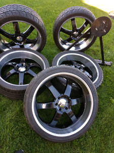 5-24 inch Rims and rubber