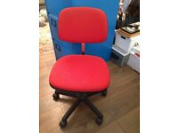 Red fabric Office Swivel Chair