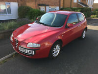 2002 Alfa Romeo 147 1.6 T-Spark, Red / Rosso Lusso, MOT until May 2018