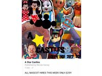 A star castles mascots and party hire