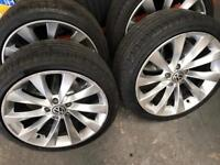 """3x 18"""" Vw Scirocco Style alloy wheels two NEW tyres"""