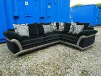 Gorgeous Corner Sofa Black/Graphite *Excellent Clean Condition*...