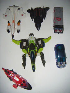 8 collectible Transformers
