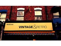 **DO YOU LOVE VINTAGE?** We are recruiting shop volunteers for Red Cross Vintage and Retro.