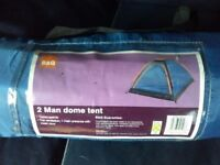 B&Q 2 man Dome tent as new