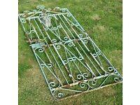 Tall cast iron gate