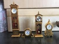 Collectable miniature clocks