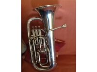 Boosey and Hawkes Silver Euphonium.