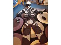 Motorcross helmet and suit kids