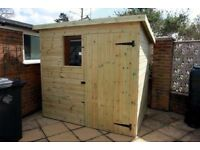 6x4 wooden shed