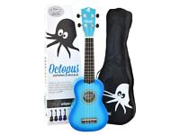NEW : Octopus ukulele (pretuned and boxed) and Tuner £25
