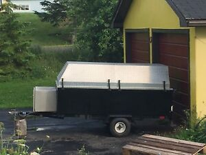 Utility trailer with removable top  4x8