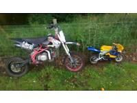 Stomp Kz 140cc & 50cc mini moto