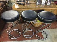 Black leather kitchen/bar stool immaculate condition.
