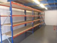 JOB LOT systemas industrial long span shelving 500 bays( pallet racking , storage )