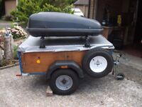 Various Camping equipment including trailer and 8 man Vango tent amongst many other items