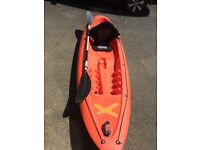 Sit on top Tek sport Kayak. With luxury seat and paddle. Excellent condition.