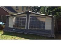 Family trio 450cm awning in grey