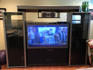 Projection tv and entertainment unit