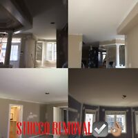 STUCCO REMOVAL, DRYWALLING, TAPING MUDDING, PAINTING