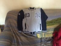 Baseball jacket L/B Blue/Grey
