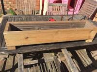 Handmade wooden planter