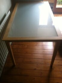Ikea Wood and Glass Dining Table