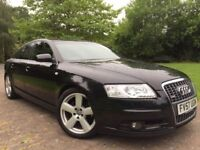 2007 Audi A6 2.0 TDI S Line Auto 7 gears 18 inch Alloy wheels Xenon lights with DRL'S Leather seats