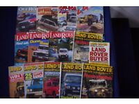 13 LAND ROVER & 4 X 4 MAGAZINES 1990's-A BIT CURLY FROM STORAGE OTHERWISE GOOD-COLLECT BENFLEET