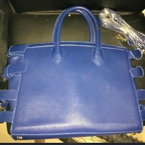 BRAND NEW NAVY BLUE PURSE WITH BUCKLES