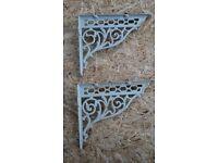 Victorian cast iron wall brackets