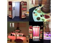 Chocolate fountain, Cany floss,Popcorn,fruit displays and much more