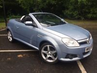 2007 VAUXHALL TIGRA EXCLUSIVE 1.8 CONVERTIBLE, FULL LEATHER INTERIOR, MOT'D UNTIL FEBRUARY-2018