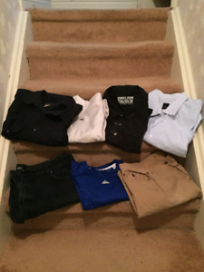 Men's Clothing - Shirts, Jeans and Pants.