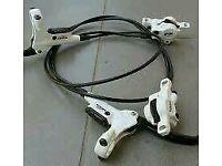 Tektro auriga comp white with full deore setup swap or sell