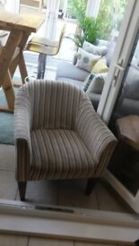 Lovely Striped Tub Chair from NEXT