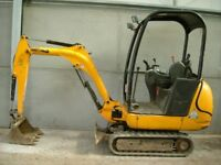 mini digger for sale jcb 1.5 ton low hours