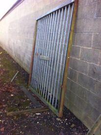 Heavy duty solid metal galvanised industrial gates, suit farms ,lock ups eta