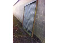 Heavy duty solid metal galvanised industrial gates, suit farms ,lock ups eta