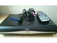 Digital sky HD box complete with remote control and power cable