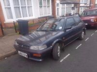 1992 TOYOTA COROLLA 1.3..2 OWNERS..64000 MILES