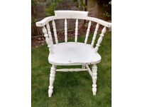 4 x solid wood chairs