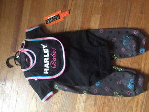 Brand new Harley Davidson outfit and bib