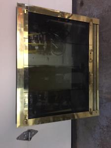 Fireplace glass door