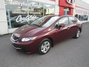 2013 Honda Civic Sdn LX AC AUTOMATIQUE BLUETOOTH CRUISE