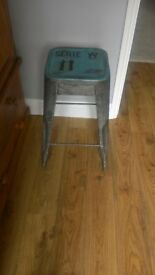 Metal bar stool. Retro industrial style.
