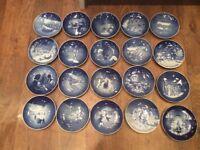 Copenhagen christmas plates